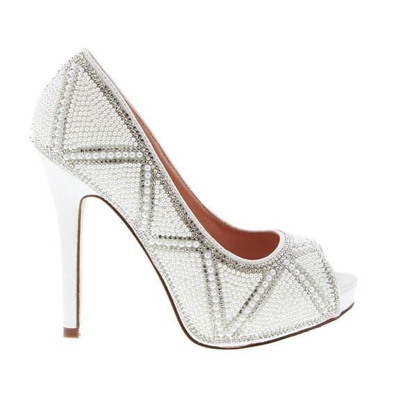 13fda1a8b De Blossom Collection Shoes | De Blossom Womens Bridal White Peep ...